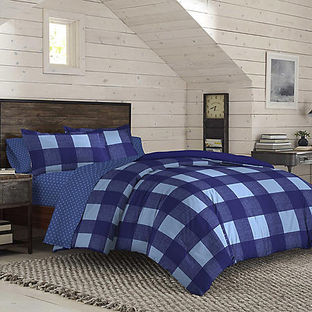 IZOD Buffalo Blue Plaid Comforter Set (Assorted Colors and Sizes)