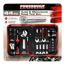Powerbuilt 44-Piece Auto & Motorcycle Road Tool Set