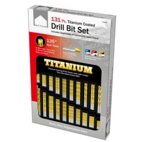 Tool House 131-Pc.Titanium Coated Drill Bit Set with Case