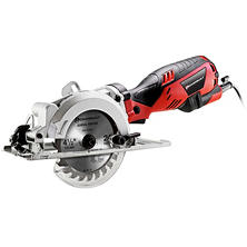 "Powerbuilt 4 1/2"" Compact Circular Saw with 5.8 Amp Motor"