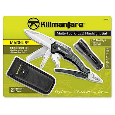 Kilimanjaro Magnus Multi Tool And Led Flashlight Set Sam S Club