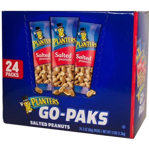 Planters® Go-Paks Salted Peanuts - 24/2 oz.