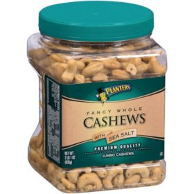 Planters Fancy Whole Cashews with Sea Salt (33 oz.)