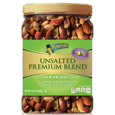 Planters Unsalted Premium Blend (34.5 oz.) - Sam's Club on planters mixed nuts tin, planters salted mixed nuts, planters mixed nuts ingredients, planters roasted mixed nuts,