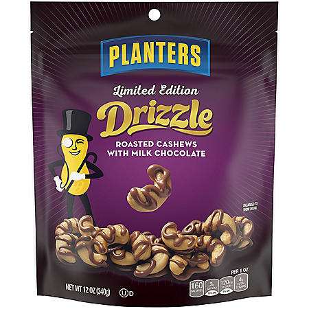 Planters Limited Edition Drizzle Roasted Cashews with Milk Chocolate (12 oz.)