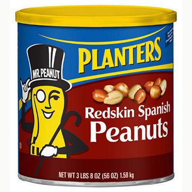 Planters® Spanish Peanuts - 56oz - Sam's Club on planters spicy peanuts, planters virginia peanuts, red planters peanuts, can of peanuts, planters peanuts nutrition label, planters peanuts shirts, planters chocolate covered peanuts, planters roasted peanuts, planters salted peanuts, planters peanuts gifts, planters blanched peanuts, spanish peanuts, planters unsalted peanuts,