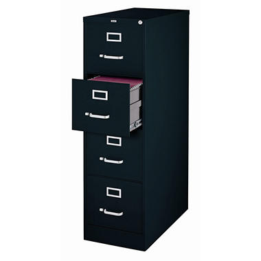 Hirsh 4 Drawer Locking File Cabinet Black