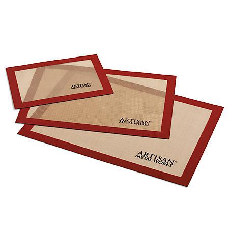 Artisan Metal Works Silicone Baking Mats, 3 Pack Set