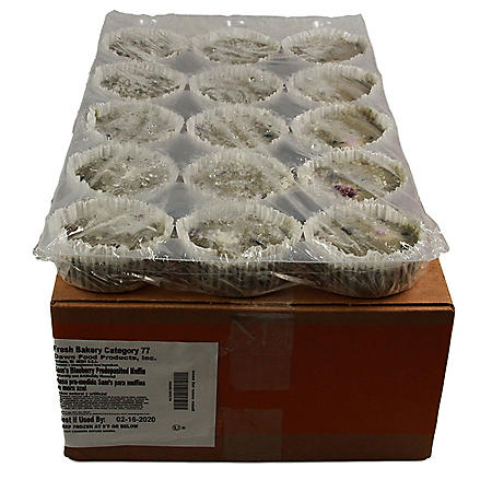 Blueberry Muffins, Bulk Wholesale Case (60 ct.)