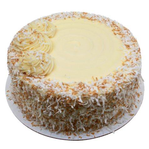 "Italian Creme 10"" Round Cake (85 oz.)"