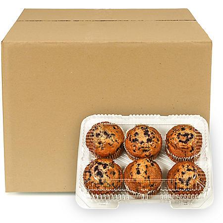 Blueberry Muffins, Bulk Wholesale Case (6 ct.)
