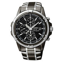 Seiko Men's Two-Tone Solar Chronograph Stainless Steel Watch