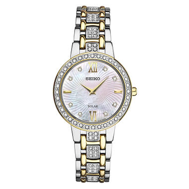 Seiko Women's Solar Crystal Two-Tone Watch