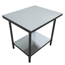 Excalibur Preparation Table with Undershelf, Flat Top (various sizes)