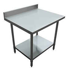"Excalibur Preparation Table with 4"" Backsplash and Undershelf (various sizes)"