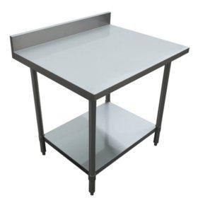 "Excalibur Preparation Table with 4"" Backsplash and Undershelf (various sizes)"