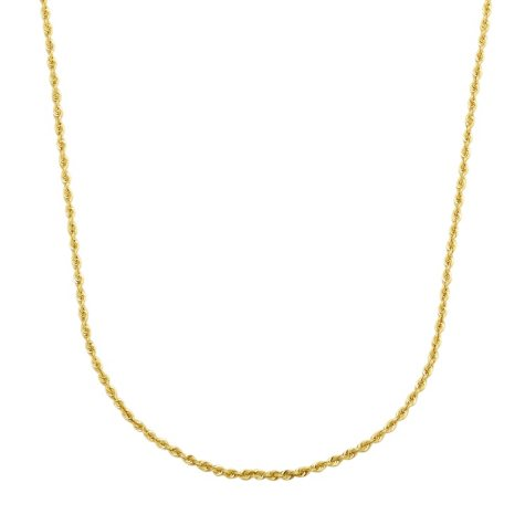 "18"" Solid Rope Chain in 14K Yellow Gold"