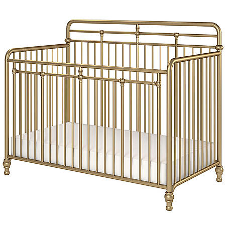 Little Seeds Monarch Hill Hawken 3-in-1 Convertible Metal Crib (Choose Your Color)