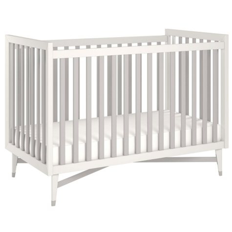 Little Seeds Monarch Hill Hadley Convertible Crib, White/Gray