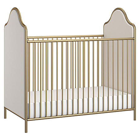 Little Seeds Piper Upholstered Metal Crib (Choose Your Color)