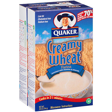 Quaker Farina Creamy Wheat - 28 oz. - 2 ct.