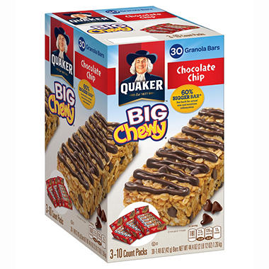 Quaker Big Chewy Granola Bars - 30 ct.