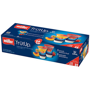 Muller FrutUp Lowfat Yogurt Variety Pack - 5.3 oz. cups - 10 ct.