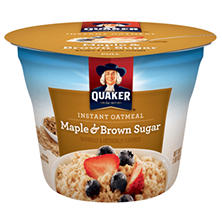 Instant Quaker Oatmeal Maple and Brown Sugar (1.69 oz.)