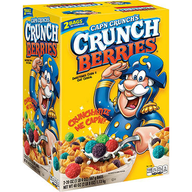 Cap'n Crunch's Crunch Berries? Sweetened Corn & Oat Cereal - 2/20 oz.