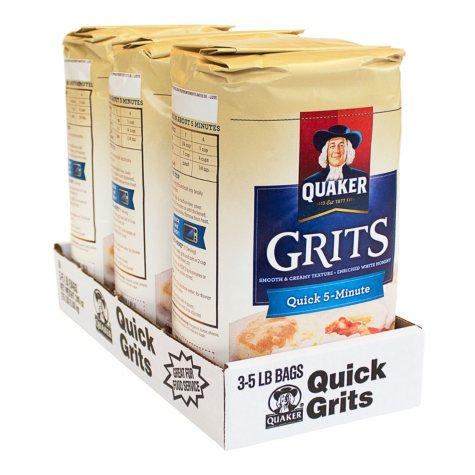 Quaker Quick 5-Minute Grits (5 lb., 3 ct.)