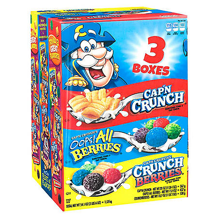 Cap'n Crunch Cereal, Variety Pack (3 pk.)