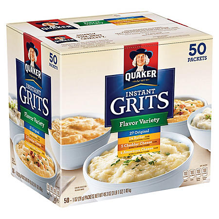Quaker Instant Grits Flavor Variety Pack (50 ct.)