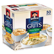 Quaker Instant Grits Variety Pack (1 oz. ea., 50 pk.)