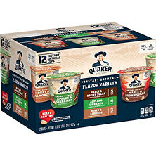 Quaker Instant Oatmeal Variety Pack (1.68 oz., 12 pk.)
