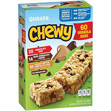 Quacker Chewy Variety Pack (0.84 oz. ea., 60 ct.)