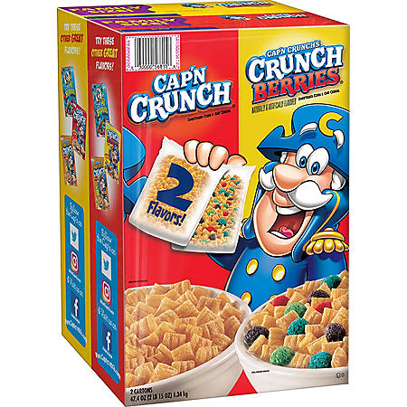 Cap'n Crunch Cereal, Variety Pack (2 pk.)