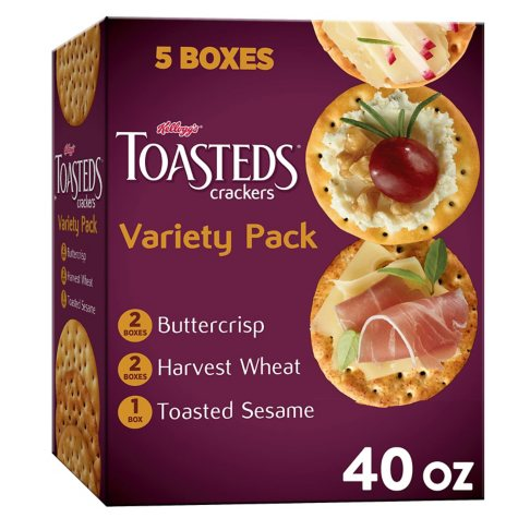 Keebler Toasteds Crackers Variety Pack (8 oz., 5 ct.)