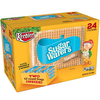 Keebler Sugar Wafers - 2.75 oz. - 24 pkgs.