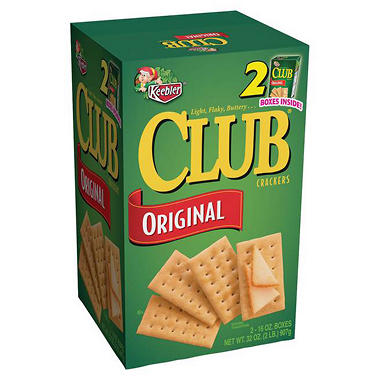Keebler Club Crackers - 2/16 oz. boxes