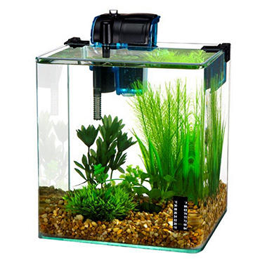 Penn Plax Vertex Desktop Aquarium Kit, 2.7-Gallon