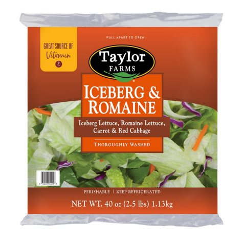 Taylor Farms Iceberg & Romaine Lettuce Blend (2.5 lb.)