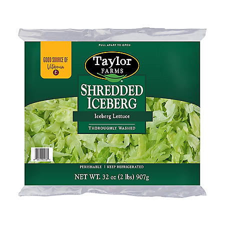 Taylor Farms Shredded Iceberg Lettuce (2 lbs.)