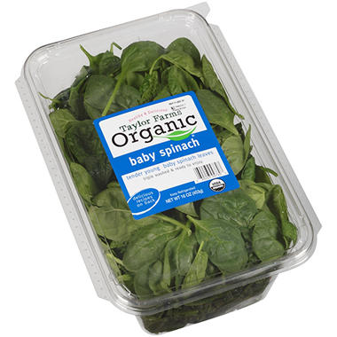 Organic Spinach Trays