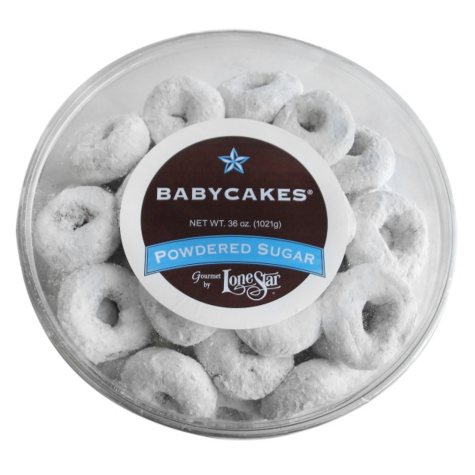 Lonestar Powdered Sugar Babycakes Mini Donuts (36 oz.)