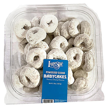 Lonestar Babycakes Powdered Sugar Donuts (36 oz.)