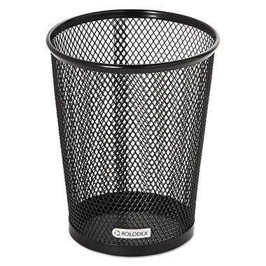 Rolodex Nestable Jumbo Wire Mesh Pencil Cup, 4 3/8 dia. x 5 1/8, Black