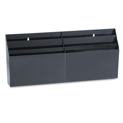 Six-Pocket Wall Mount/Desk Organizer - Black
