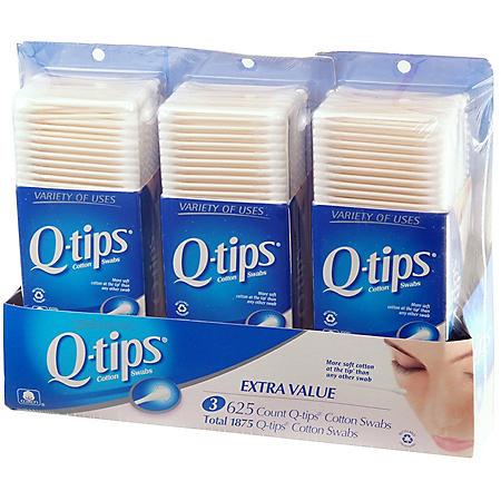 Q-tips® Cotton Swabs - 3/625 ct.