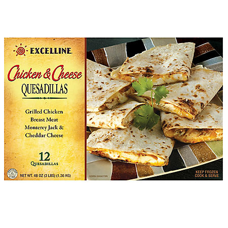 Excelline Chicken/Cheese Quesadillas