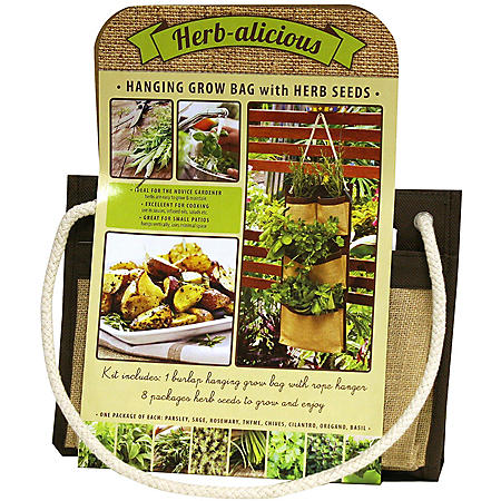 Hanging Grow Bag with Herb Seeds